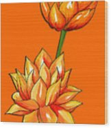 Lotus Flower Tattoo Design Inspired Watercolour Wood Print
