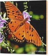 Orange Marvel Wood Print