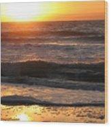 Orange Morning  Wood Print