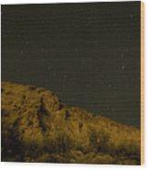 Orange Mountains Wood Print