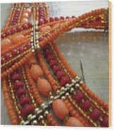 Orange Necklace Wood Print