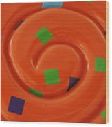 Orange Overload Wood Print
