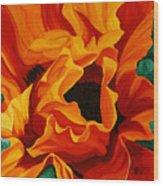 Orange Poppy Wood Print