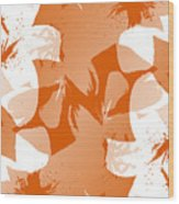 Orange Poster Lilies Wood Print
