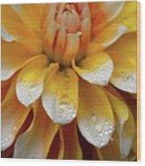 Orange Rain Wood Print