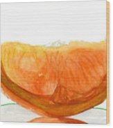 Orange Reflection Wood Print