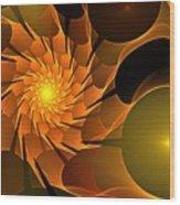 Orange Rose Blossom Wood Print