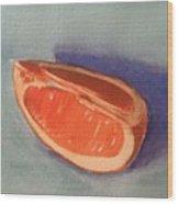 Orange Slice 2 Wood Print