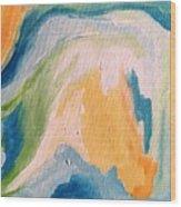 Orange Slush Wood Print
