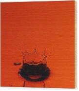 Orange Splash Wood Print by Steve Gadomski