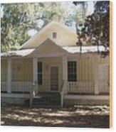 Orange Springs Historic Home Wood Print