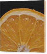 Orange Sunrise On Black Wood Print by Laura Mountainspring