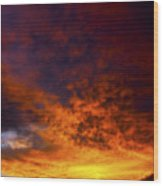 Orange Sunset 1.1 Wood Print