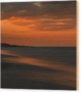 Orange Sunset Wood Print