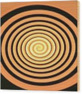 Orange Swirl Wood Print