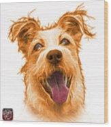Orange Terrier Mix 2989 - Wb Wood Print