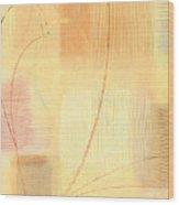 Orange Textures  Wood Print