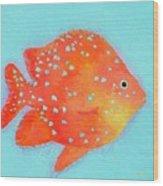Orange Tropical Fish Wood Print