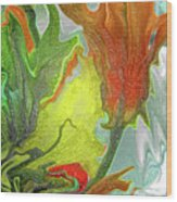 Orange Tulip Wood Print