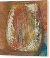 Orange Vase Wood Print by Gregory Dallum