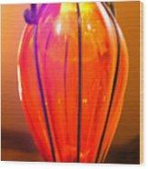 Orange Vase Wood Print