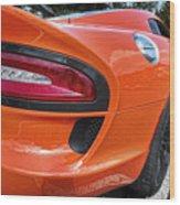 Orange Viper  Wood Print