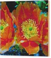 Orange3 Wood Print