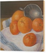 Oranges And Tangerines Wood Print