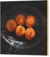 Oranges In Sunlight Wood Print
