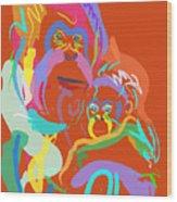 Orangutan Mom And Baby Wood Print