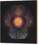 Orb Moon Rings Wood Print