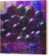 Orbs In The Water Wood Print