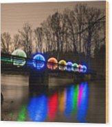 Orbs On Osceola Bridge Wood Print