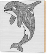 Orca Wood Print by Carol Lynne