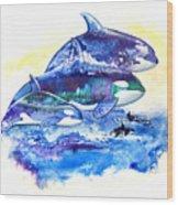 Orca Fantasy Wood Print