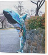 Orca On Parade 2 Wood Print