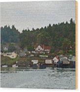 Orcas Island Dock Wood Print