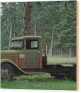 Orcas Island Old Truck Wood Print