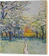 Orchard Path Wood Print