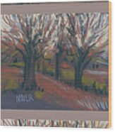 Orchard Sunset Wood Print