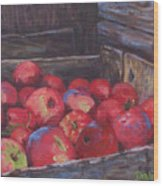 Orchard's Harvest Wood Print