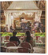 Orchestra At Ristorante Quadri On St Mark's Square - Venice Wood Print