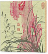 Orchid - 30 Wood Print