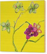 Orchid And Amarillo Wood Print