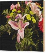 Orchid Arrangement In Color  Wood Print