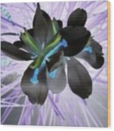 Orchid Inverted Wood Print