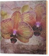 Orchid Layers Wood Print