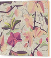 Orchid Pattern Wood Print
