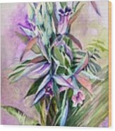 Orchids- Botanicals Wood Print