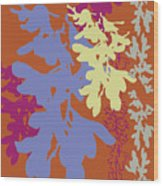 Orchids Caramel Wood Print